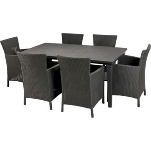 iowa rattan effect 6 seater patio set for was at find it for less. Black Bedroom Furniture Sets. Home Design Ideas