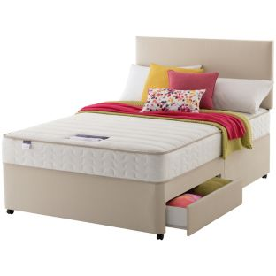 Silentnight hunsbury memory king size 2drw divan bed for for Divan bed offers