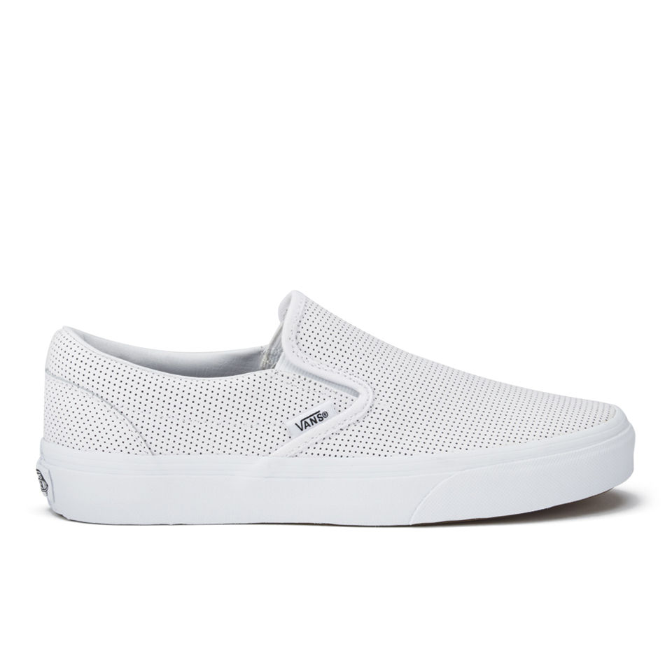 Vans Women S Classic Perforated Leather Slip On Trainers